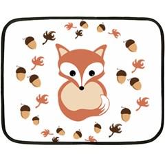 Fox In Autumn Fleece Blanket (mini) by vanessagf