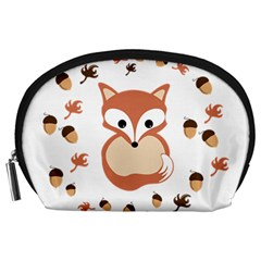 Fox In Autumn Accessory Pouches (large)  by vanessagf