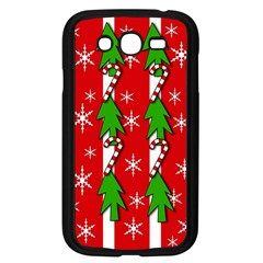 Christmas Tree Pattern   Red Samsung Galaxy Grand Duos I9082 Case (black) by Valentinaart