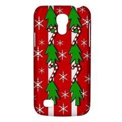 Christmas Tree Pattern   Red Galaxy S4 Mini by Valentinaart