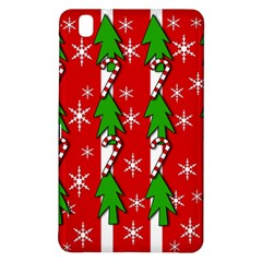 Christmas Tree Pattern   Red Samsung Galaxy Tab Pro 8 4 Hardshell Case by Valentinaart