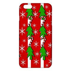 Christmas Tree Pattern   Red Iphone 6 Plus/6s Plus Tpu Case by Valentinaart