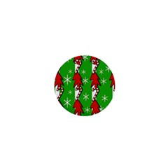 Christmas Pattern   Green 1  Mini Magnets by Valentinaart