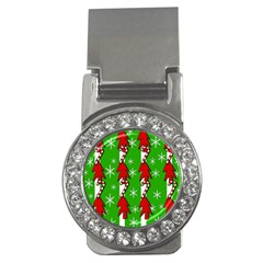 Christmas pattern - green Money Clips (CZ)