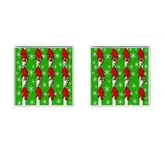 Christmas Pattern   Green Cufflinks (square) by Valentinaart