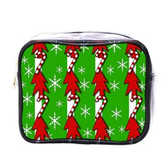 Christmas Pattern   Green Mini Toiletries Bags by Valentinaart