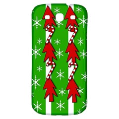 Christmas Pattern   Green Samsung Galaxy S3 S Iii Classic Hardshell Back Case by Valentinaart