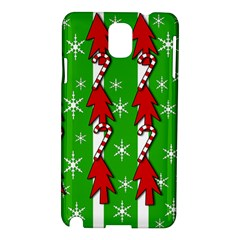 Christmas Pattern   Green Samsung Galaxy Note 3 N9005 Hardshell Case by Valentinaart