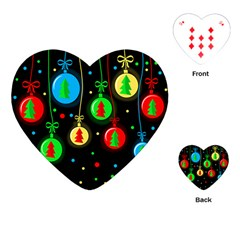 Christmas Balls Playing Cards (heart)  by Valentinaart