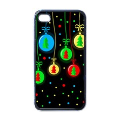 Christmas Balls Apple Iphone 4 Case (black) by Valentinaart