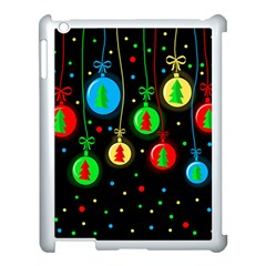 Christmas Balls Apple Ipad 3/4 Case (white) by Valentinaart