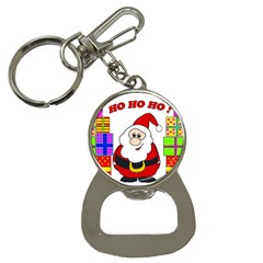 Santa Claus Pattern   Transparent Bottle Opener Key Chains by Valentinaart