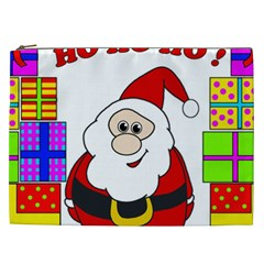 Santa Claus Pattern   Transparent Cosmetic Bag (xxl)  by Valentinaart