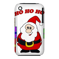 Santa Claus Pattern   Transparent Apple Iphone 3g/3gs Hardshell Case (pc+silicone) by Valentinaart