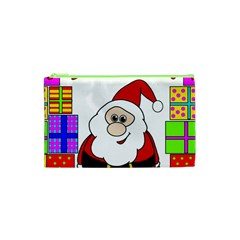 Santa Claus Pattern   Transparent Cosmetic Bag (xs) by Valentinaart