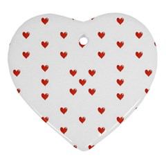 Cute Hearts Motif Pattern Ornament (heart)  by dflcprints