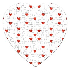 Cute Hearts Motif Pattern Jigsaw Puzzle (heart) by dflcprints
