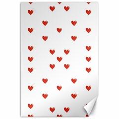 Cute Hearts Motif Pattern Canvas 20  X 30   by dflcprints