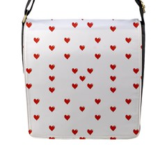 Cute Hearts Motif Pattern Flap Messenger Bag (l)  by dflcprints