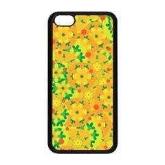 Christmas Decor   Yellow Apple Iphone 5c Seamless Case (black) by Valentinaart