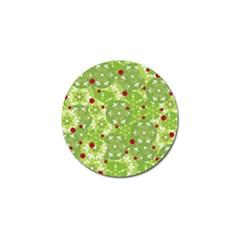 Green Christmas decor Golf Ball Marker by Valentinaart