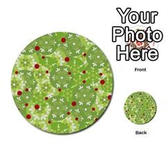 Green Christmas Decor Multi Purpose Cards (round)