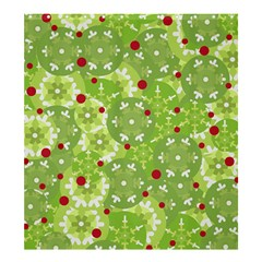 Green Christmas Decor Shower Curtain 66  X 72  (large)  by Valentinaart