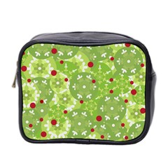 Green Christmas Decor Mini Toiletries Bag 2 Side by Valentinaart
