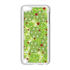 Green Christmas decor Apple iPod Touch 5 Case (White) by Valentinaart
