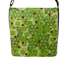Green Christmas Decor Flap Messenger Bag (l)  by Valentinaart