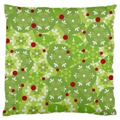Green Christmas Decor Standard Flano Cushion Case (one Side) by Valentinaart