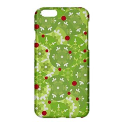 Green Christmas Decor Apple Iphone 6 Plus/6s Plus Hardshell Case by Valentinaart