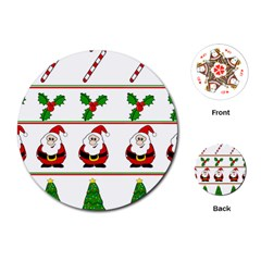 Christmas Pattern Playing Cards (round)  by Valentinaart