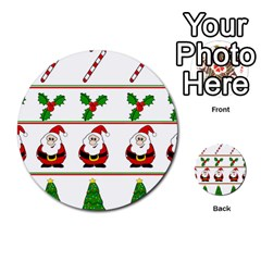 Christmas Pattern Multi Purpose Cards (round)  by Valentinaart
