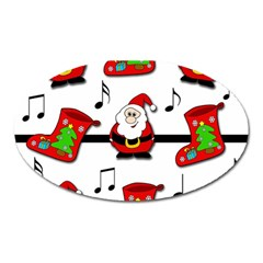 Christmas Song Oval Magnet by Valentinaart