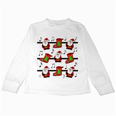 Christmas Song Kids Long Sleeve T Shirts by Valentinaart