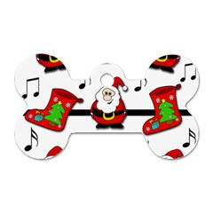 Christmas Song Dog Tag Bone (two Sides) by Valentinaart