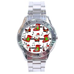 Christmas Song Stainless Steel Analogue Watch by Valentinaart