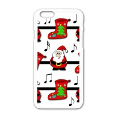 Christmas Song Apple Iphone 6/6s White Enamel Case by Valentinaart