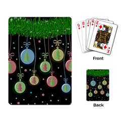 Christmas Balls   Pastel Playing Card by Valentinaart