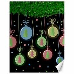 Christmas Balls   Pastel Canvas 12  X 16   by Valentinaart