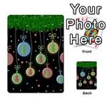 Christmas balls - pastel Multi-purpose Cards (Rectangle)  Back 49