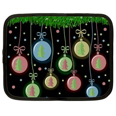 Christmas Balls   Pastel Netbook Case (large) by Valentinaart