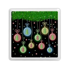 Christmas Balls   Pastel Memory Card Reader (square)  by Valentinaart