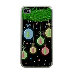 Christmas Balls   Pastel Apple Iphone 4 Case (clear) by Valentinaart