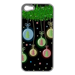 Christmas Balls   Pastel Apple Iphone 5 Case (silver) by Valentinaart
