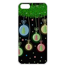 Christmas Balls   Pastel Apple Iphone 5 Seamless Case (white) by Valentinaart