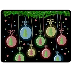 Christmas Balls   Pastel Double Sided Fleece Blanket (large)  by Valentinaart