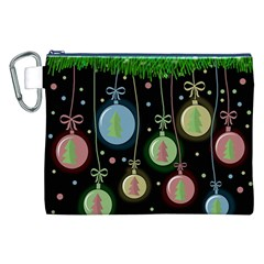 Christmas Balls   Pastel Canvas Cosmetic Bag (xxl) by Valentinaart