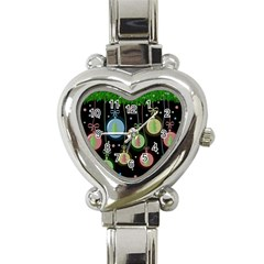 Christmas Balls   Pastel Heart Italian Charm Watch by Valentinaart